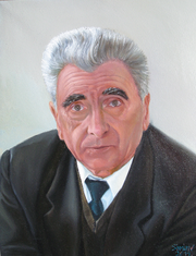 Портрет маслом для любимого дедушки на 9 мая!