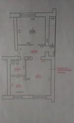 2-комн квартира после перепланировки Ляховичи!