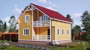 Каркасный Дом 8х8 из бруса по проекту Лахти